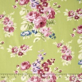 Anne of Green Gables - Anne Floral Green Yardage