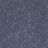 "Memoirs - Flourish Script Indigo Sateen 108"" Wide Backing"