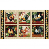 Farmer's Market - Rooster Blocks Cream Panel