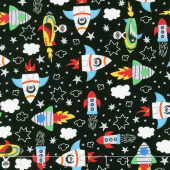 Novelty - Blast Off Black Yardage
