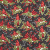 Cardinal Woods - Cardinals Black Multi Yardage