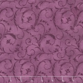 "Beautiful Backings - Elegant Scroll Plum 108"" Wide Backing"