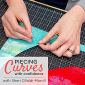 buy quilting product Piecing Curves with Confidence ECLASS0007