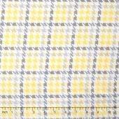 Cozy Cotton Flannels - Plaid Yellow Yardage