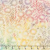 Caribbean Breeze Batiks - Flower Field Rice Yardage