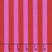 Tula Pink's All Stars - Pom Poms & Stripes Tent Stripe Peony Yardage