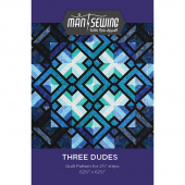 Three Dudes Quilt Pattern from Man Sewing