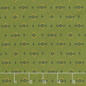 Wit & Wisdom - Dotted Diamonds Green Yardage