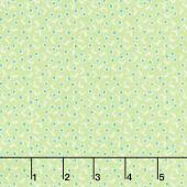 Vintage Happy 2 - Tiny Squares Spring Green Yardage