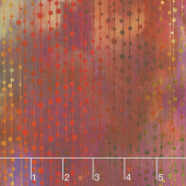 Garden of Dreams - Beads Red Glow Digitally Printed Yardage