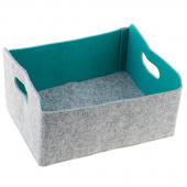 Felt Foldable Storage Bin - Jade
