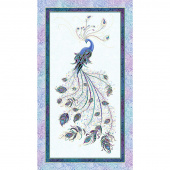 Peacock Flourish - Peacock Teal Metallic Panel