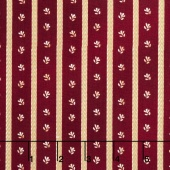 Liberty Hill - Twill Daisy Stripe Red Yardage