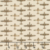 Air Show - Small Planes Allover Beige Yardage