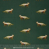 Alpine - Foxy Fields Pine Green Yardage
