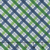 The Great Outdoors - Outdoors Plaid Blue Yardage