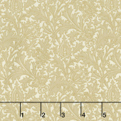 "Morris Holiday 1897 - Thistle Linen 108"" Wide Metallic Backing"