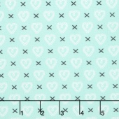 Sugar Pie - Cross My Heart Aqua Yardage
