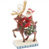 Jim Shore Heartwood Creek Dreams Delivered Santa Figurine
