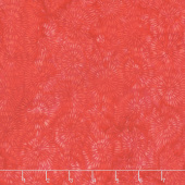 Fiery Sunset Batiks - Dandelion Red Yardage