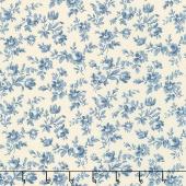 Le Beau Papillon - Marpesia Pearl Blue Yardage