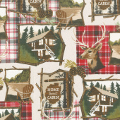 Home Sweet Cabin - Home Sweet Cabin Khaki Yardage