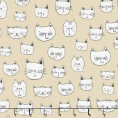 Whiskers & Tails - Cat Head Natural Yardage