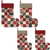 MSQC Plaid for the Holidays Christmas Stockings Kit