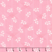 Colette - Lattice Leaves Coral Yardage