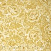 Belcourt - Tonal Roses Buttercup Yellow Yardage