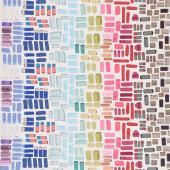 Pencil Club - Erasers Buff Digitally Printed Yardage