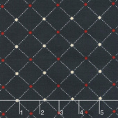 Star & Stripe Gatherings - Star Grid Navy Yardage