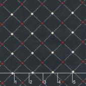 Star & Stripe Gatherings - Star Grid Navy Yardage