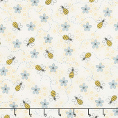 All About the Bees - Bee Trails Cream Yardage