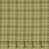 Folk Art Flannels 2 - Printed Plaid Green Yardage