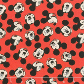 Disney - Mickey Traditional Face Toss Red Yardage