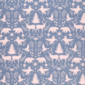 Mystical Land - Mirror Lake Rose Blue Yardage
