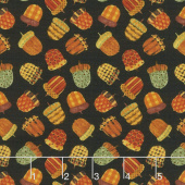 Give Thanks II - Acorns Black Yardage