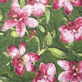 Artisan Spirit - Sandscapes Orchids Green Metallic Yardage