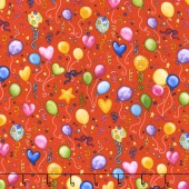 Let's Celebrate - Balloons Red Yardage