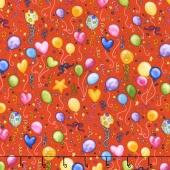 Let's Celebrate - Balloons Red Yardage