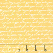 Only You - Script Yellow Yardage