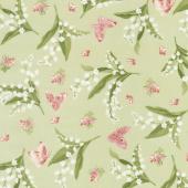 Sensibility - Lilies & Butterflies Green Yardage