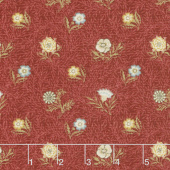 Morris Garden - Powdered 1874 Crimson Yardage