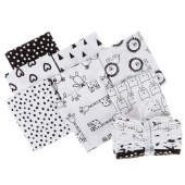 Penned Pals - Black and White Colorstory Fat Quarter Bundle