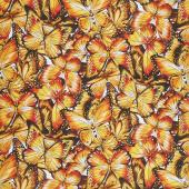 Nature Studies - Butterflies Sunshine Digitally Printed Yardage