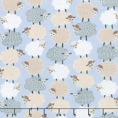 Sweet Dreams - Sweet Stacked Sheep Periwinkle Yardage