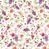 Radiance - Spring Floral White Yardage