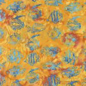 Ocean Odyssey Batiks - Tropical Fish Nasturtium Yardage