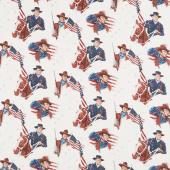 John Wayne Americana - John Wayne Cream Yardage